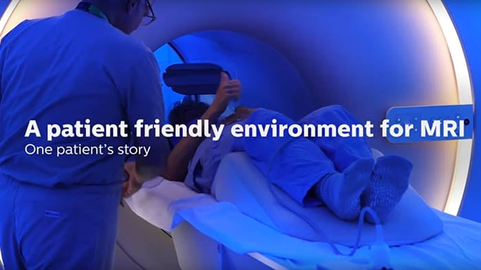 A patients journey into a friendly MRI environment with ambient experience at Lahey Health, US