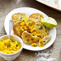Thai Fish Cakes with Mango Salsa